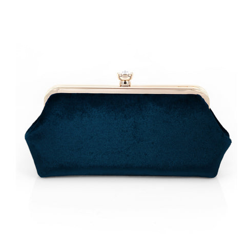 Navy Blue Photo Clutch Bag