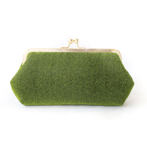 Shimmery Green Clutch Bag
