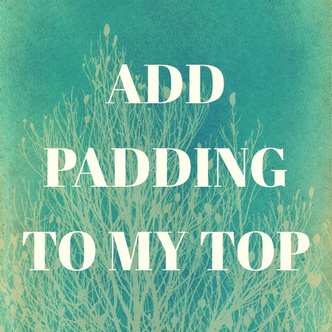 Add Padding to my Top