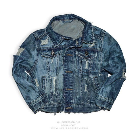 Made To Order New - All Distressed Out Jean Jacket (Unisex)