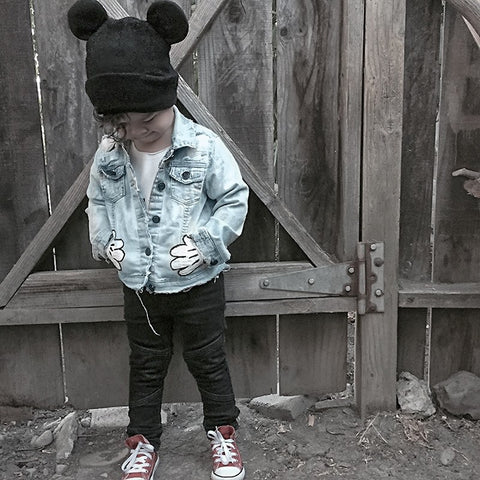 Made To Order New - Hey Mousey Jean Jacket (Unisex)