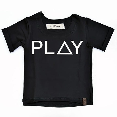 Play - Black , Wholesale Tees - Wholesale Tees,