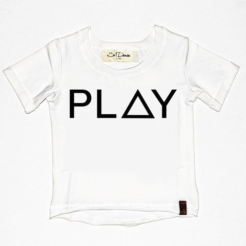 Play - White , Wholesale Tees - Wholesale Tees,