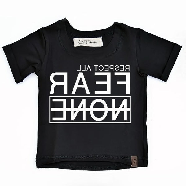 Respect All Fear None - Black , Wholesale Tees - Wholesale Tees,