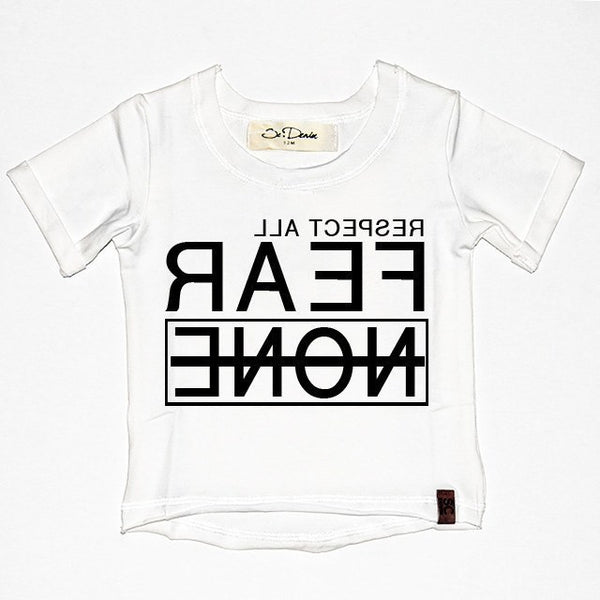 Respect All Fear None - White , Wholesale Tees - Wholesale Tees,