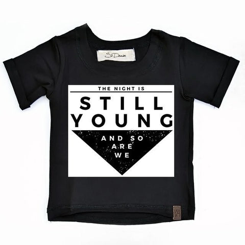 The Night Is Still Young - Black , Wholesale Tees - Wholesale Tees,
