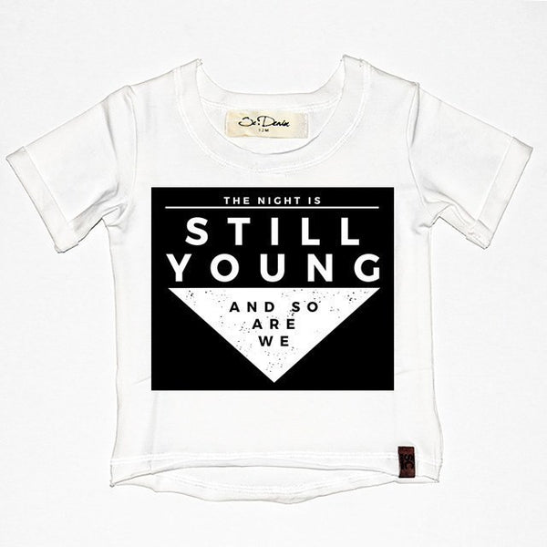 The Night Is Still Young - White , Wholesale Tees - Wholesale Tees,