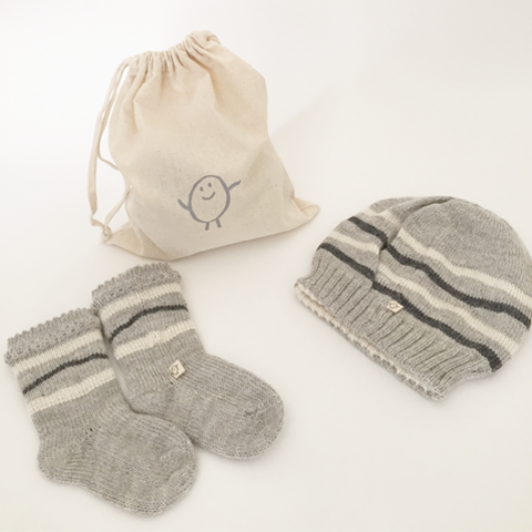 Gift Set bundle: Hat + Booties (reversible)