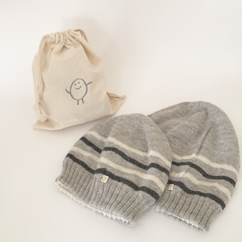 Gift Set Bundle: Grown Up Hat + Baby Hat (Reversible)