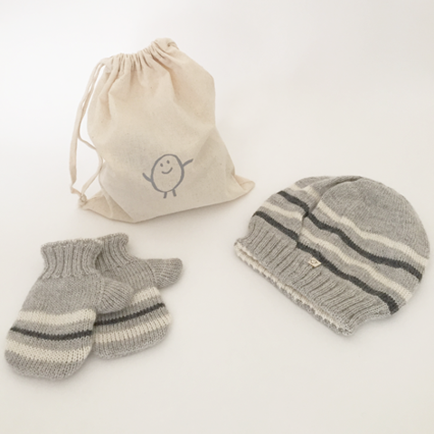 Gift Set Bundle: Hat + Mittens (reversible)