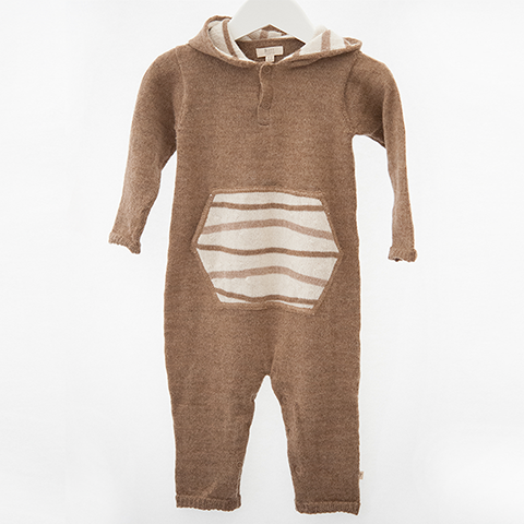 Hooded Jumpsuit (caramel)