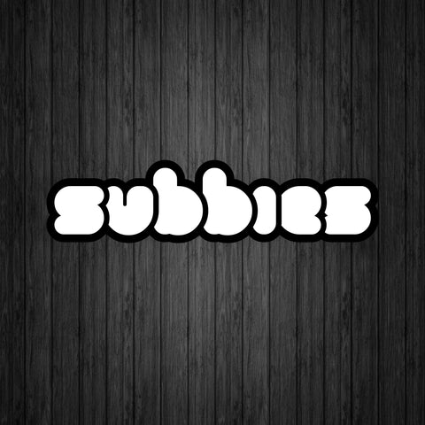 Subbies Logo Sticker