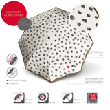 Knirps® T 200 - Duomatic Solids Creme Dots