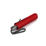 Folded Knirps® T 200 Duomatic Solids Umbrella - Red