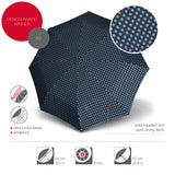 Knirps® X1 Umbrella - Navy Dot