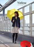 Woman With Knirps® Floyd Umbrella -Yellow