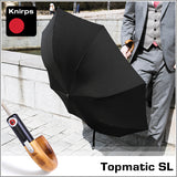 Outdoors Knirps Topmatic SL Wood Luxury Umbrella - Creme Colour