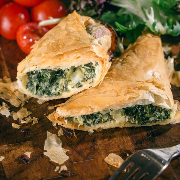 Image of cheese and spinach triangles
