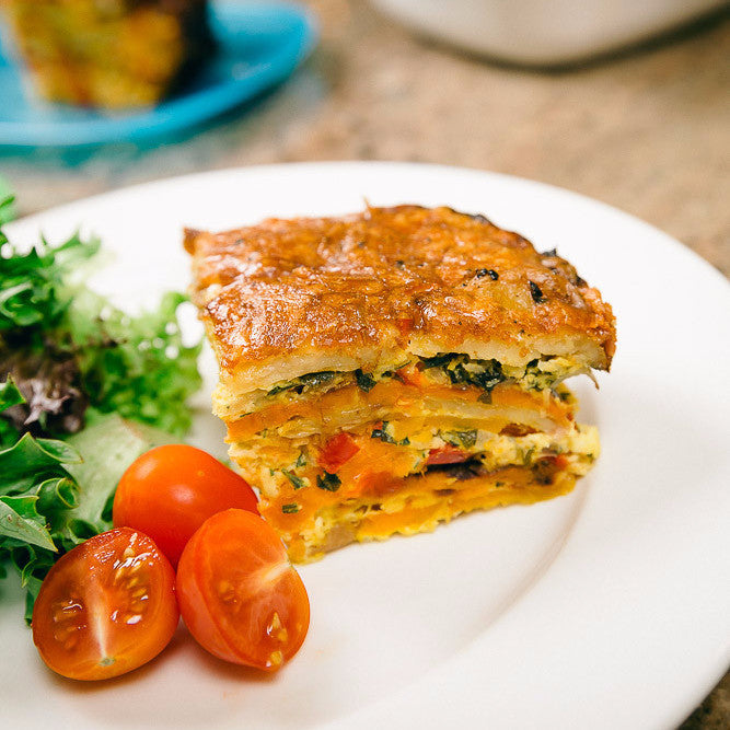 Image of roast vegetable frittata