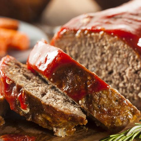 ready made home delivery meals featuring tomato glazed meatloaf
