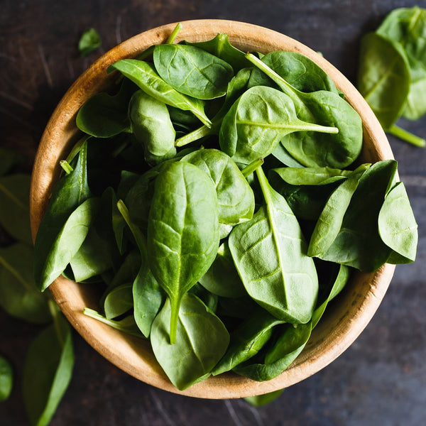 Baby spinach in a bowl