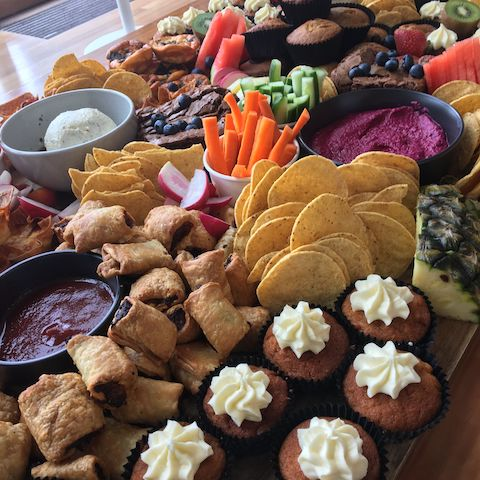 sample event catering of canapes for breakfast, morning tea or afternoon tea