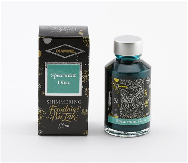 Diamine Shimmertastic Ink Spearmint Diva