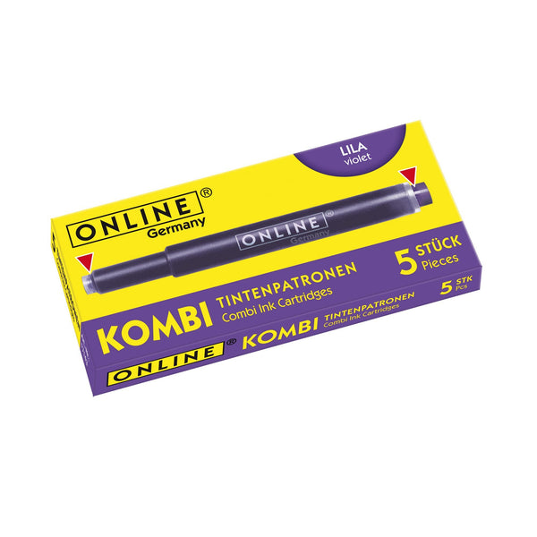 ONLINE Combi Fountain Pen Ink Cartridge Purple