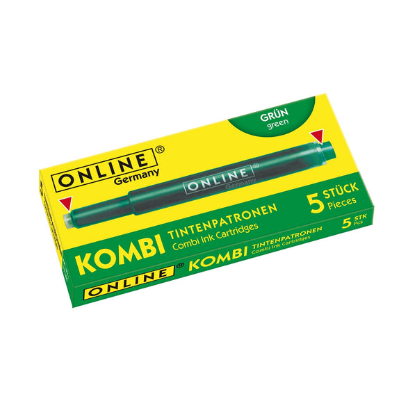 ONLINE Combi Fountain Pen Ink Cartridge Green