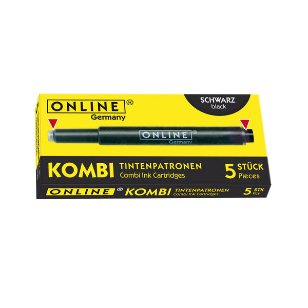ONLINE Combi Fountain Pen Ink Cartridge Black