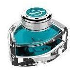 S T Dupont Ink Bottle Turquoise Blue
