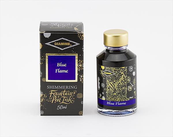 Diamine Shimmer Ink Blue Flame