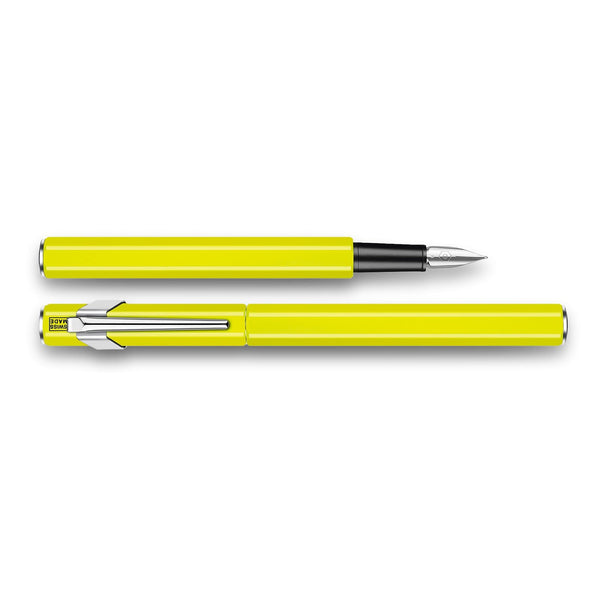 Caran d'Ache 849 Metal Fountain Pen-Fountain Pen-Caran d'Ache-Yellow-Fine-Applebee