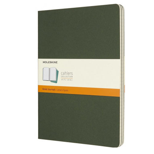 Moleskine Cahier Myrtle Green XLarge Ruled Journal