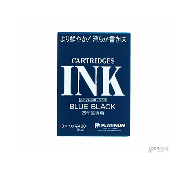 Platinum Fountain Pen Ink Cartridges BlueBlack