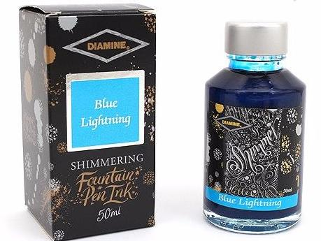 Diamine Shimmer Ink Blue Lightning