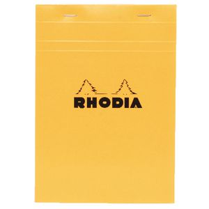 Rhodia Head Stapled Notepad No.16 A5-NotePad-Rhodia-Orange-Blank-Applebee