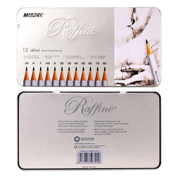 Raffine Tin of Assorted Sketching Pencils