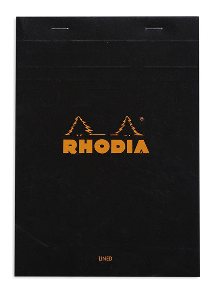 Rhodia A5 Black Lined Cover