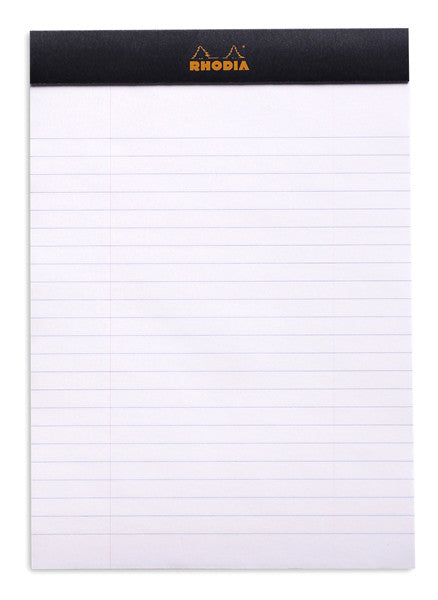 Rhodia Head Stapled Notepad No.16 A5-NotePad-Rhodia-Black-Lined-Applebee