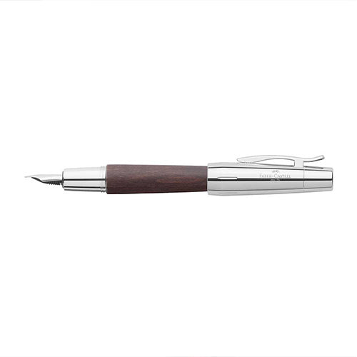 Faber-Castell E-Motion Brown Pear Wood Fountain Pen-Fountain Pen-Faber-Castell-EF-Applebee