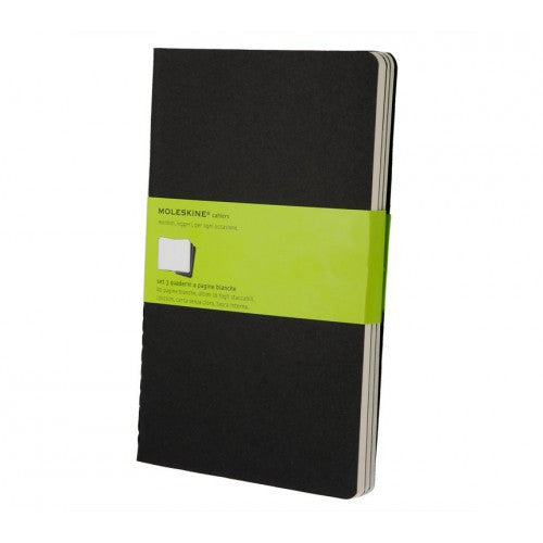 Moleskine Cahier Large Plain Notebook-Notebook-Moleskine-Cahier Black Large Plain-Applebee