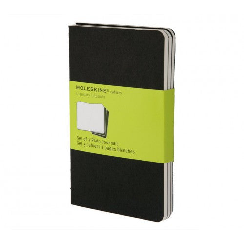 Moleskine Cahier Pocket Plain Notebook-Notebook-Moleskine-Cahier Black Pocket Plain-Applebee