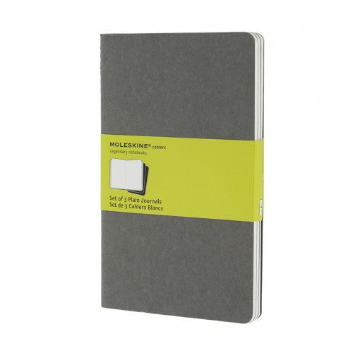 Moleskine Cahier Large Plain Notebook-Notebook-Moleskine-Cahier Grey Large Plain-Applebee