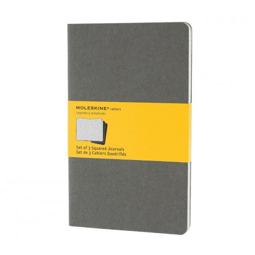 Moleskine Cahier Large Squared Notebook-Notebook-Moleskine-Cahier Grey Large Squared-Applebee