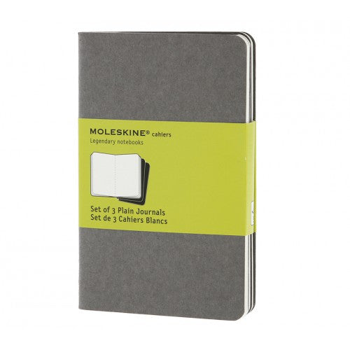Moleskine Cahier Pocket Plain Notebook-Notebook-Moleskine-Cahier Grey Pocket Plain-Applebee