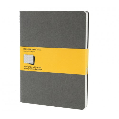 Moleskine Cahier XLarge Squared Notebook-Notebook-Moleskine-Cahier Grey XLarge Squared-Applebee