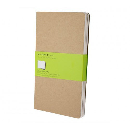 Moleskine Cahier Large Plain Notebook-Notebook-Moleskine-Cahier Kraft Large Plain-Applebee