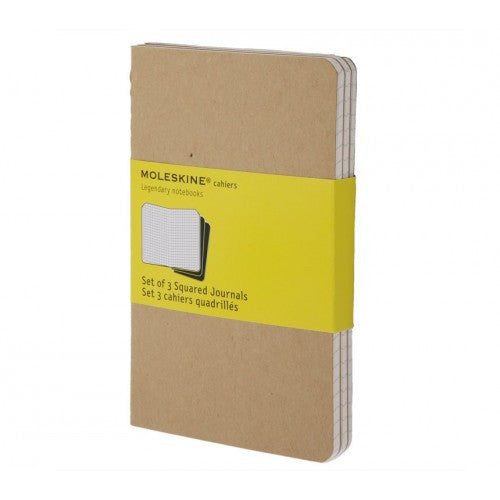 Moleskine Cahier Large Squared Notebook-Notebook-Moleskine-Cahier Kraft Large Squared-Applebee