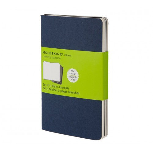 Moleskine Cahier Large Plain Notebook-Notebook-Moleskine-Cahier Navy Large Plain-Applebee